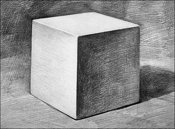 素描石膏立方体步骤